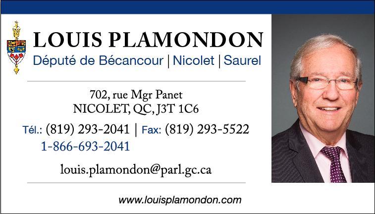 Carte d'affaires louis Plamondon Nicolet (002)