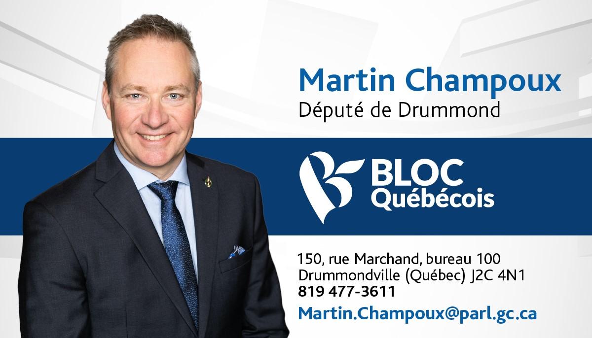 Carte d'affaires[5789] Martin Champoux